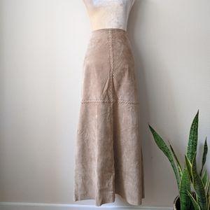 90s WESTERN Vintage Skirt   Genuine Leather